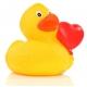 Badeend hart ballon DR  Huwelijks bedankjes