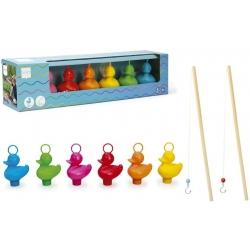 Set van 6 kermis eenden met 2 hengels  Kermiseenden