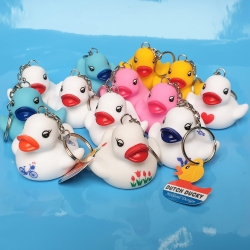 Set of 13 rubber duck key rings  Keychains