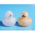 Rubber duck mini glitter gold & silver (per 2)