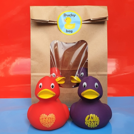 DUCKYbag All we need is love & Love Peace  DUCKYbags
