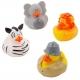 Rubber duck mini safari (per 4)  Mini ducks