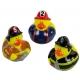 Rubber duck mini fireman (per 3)  Mini ducks