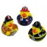 Rubber duck mini fireman (per 3)