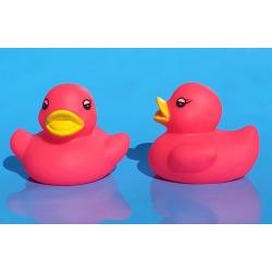 Badeend mini fluor roze B (bij 100: € 0,90)  Overige kleuren