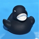 Rubber duck mini black white B (100: € 0,90)