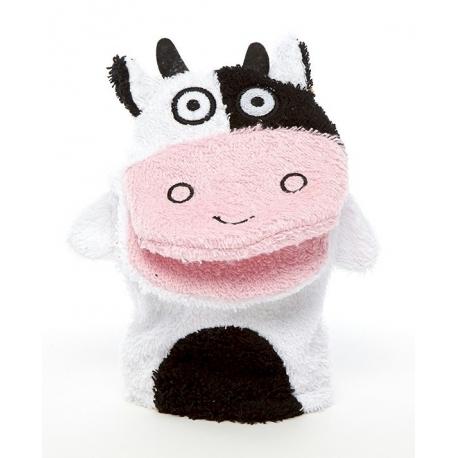 Cow washcloth  Babyshower gift