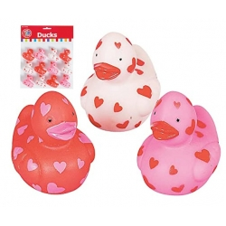 Rubber duck mini hearts 4 cm (bag of 12 pieces)  Mini ducks