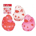 Rubber duck mini hearts 4 cm (bag of 12 pieces)