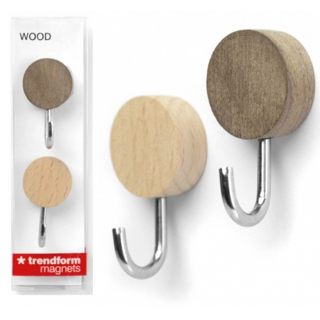 Wood hook Magnets  Order also our Magnets