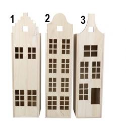 Wijn /badeend kist grachten pand  Verpakking