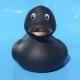 Rubberduck black gold bronze beak 8 cm B  Black