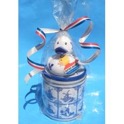 Rubber duck DUTCH DUCKY Delfts Blue Stroopwafel gift  Dutch Ducky