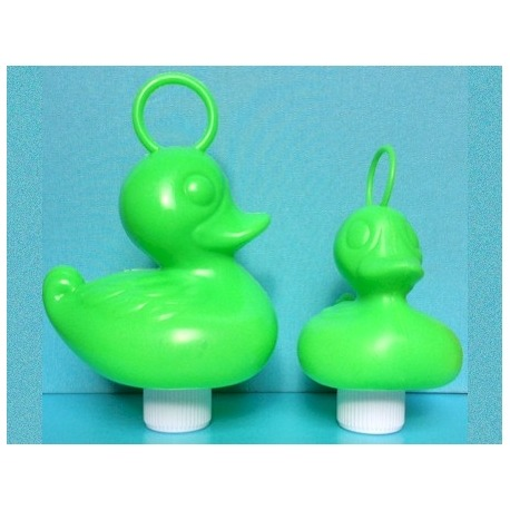 Ente mit Haken klein grün  Kermisenten