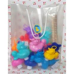 DUCKYbag 11 BIG and 7 small Unicorn Funfair ducks & fishing rods  Funfairducks