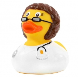 Rubber duck doctor woman brunette DR  Profession ducks