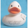 Rubber duck Large 17.5 cm White, with Text or Logo