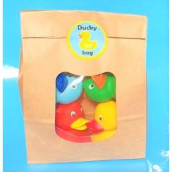 DUCKYbag 8 cm rot, gelb, grün & blau 4 Stück 4 Stück  DUCKYbags