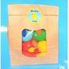 DUCKYbag  8 cm rood, geel, groen & blauw 4 stuks