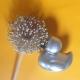 Badeend zilver 8 cm B  Zilver