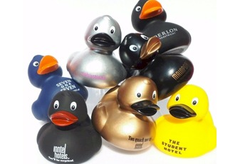 Your logo on a duck